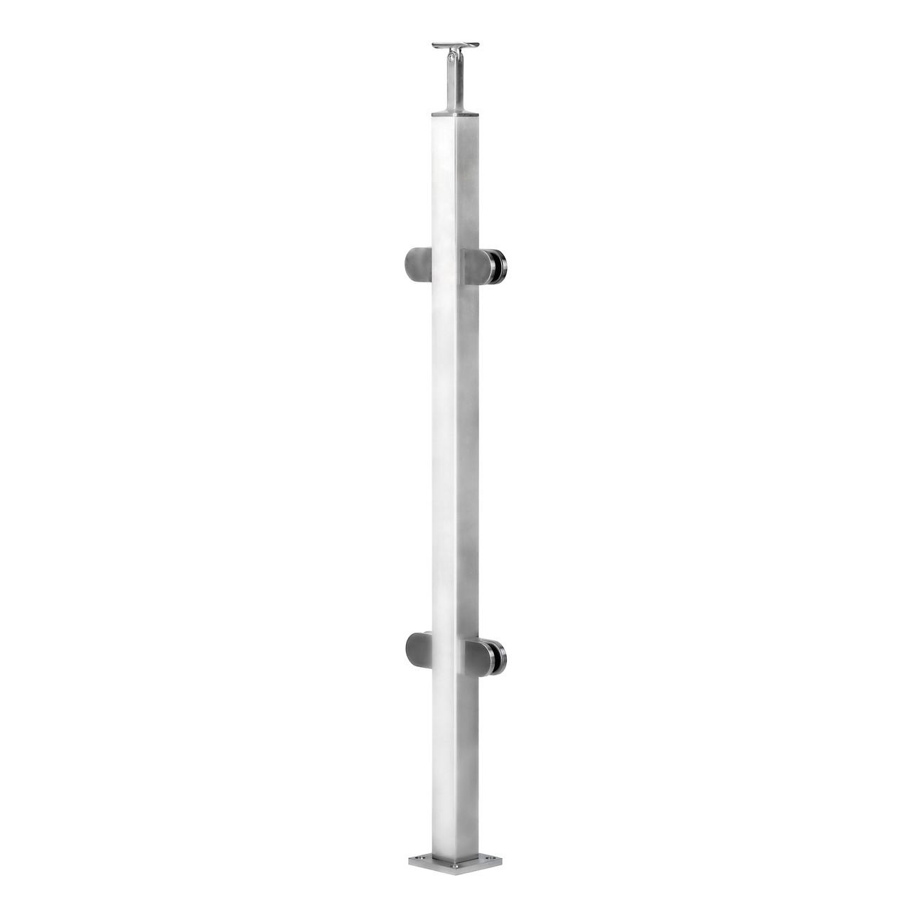 ODF-19-01-01-H1060 Середня стійка огорожі під скляне наповнення і круглий поручень діаметром 42,4 мм