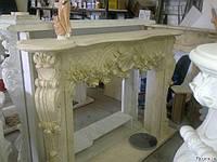 Каминный портал №3112 из мрамора Galala Beige