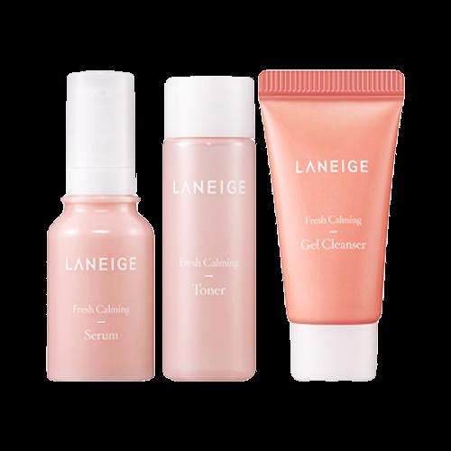 Увлажняющий мини-набор для чувствительной кожи LANEIGE  Fresh Calming Trial Kit 3 items