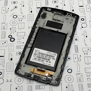 Дисплей LG G4 LS991 модуль черный Сервисный оригинал с разборки