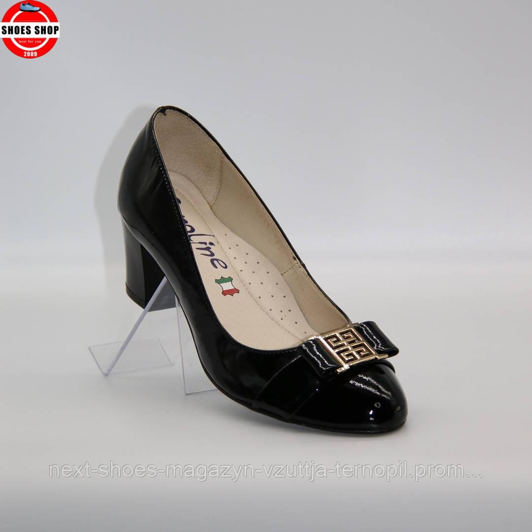 Жіночі туфлі Caroline (Польща) чорного кольору. Красиві та комфортні. Стиль: Елізабет Перкінс