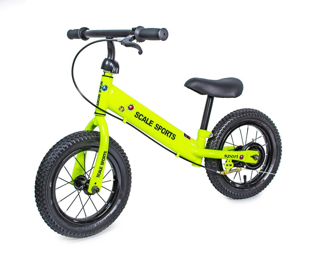 Беговел Велобег 12Д Scale Sports Салатовый цвет