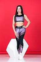 Леггинсы Totalfit S15 SuperNova лаванда сатин L Черный с лиловым, фото 1