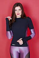 Лонгслив Totalfit RW3 Venera лаванда сатин XS Черный с лиловым, фото 1