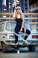 Спортивный комбинезон Totalfit F251-C21 M Черный,Серебряный, фото 1