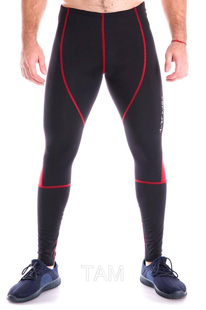 Мужские тайтсы  с сеткой Totalfit G2-C10/4 S Черные с красным