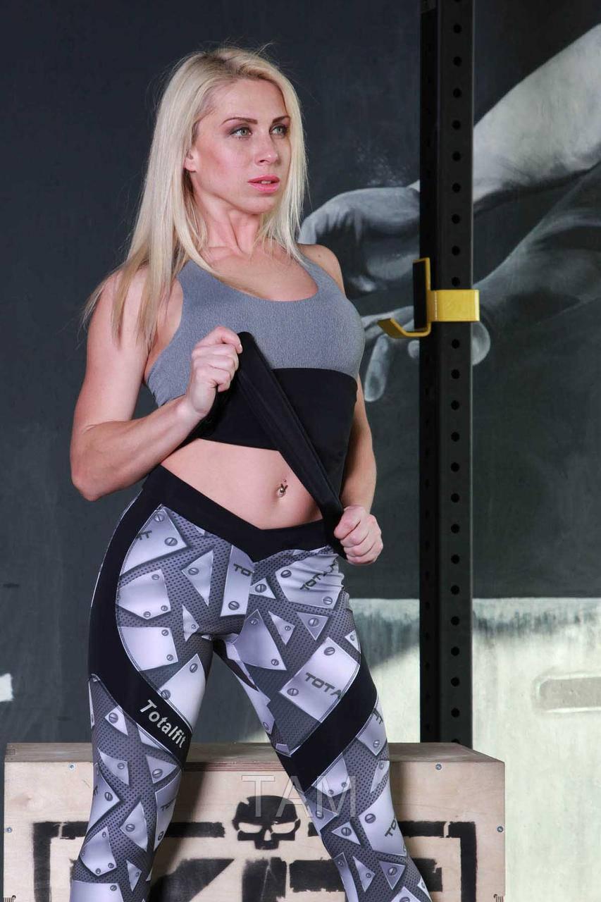 Майка спортивная Totalfit M-41 M Черный с серым