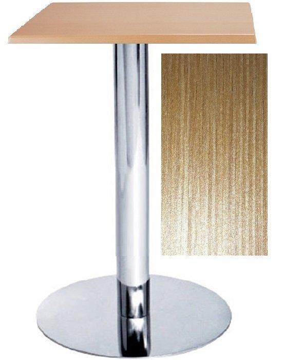 Стол барный Ибица ND2 натуральный дуб, 60*60 см, утяжеленное основание