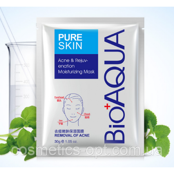 Тканевая маска для проблемной кожи Bioaqua Pure Skin Acne Rejuvenation Moisturising Mask