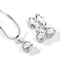 """Комплект бижутерии """"Louboutin"""" покрытие серебро с кристаллами swarovski"""