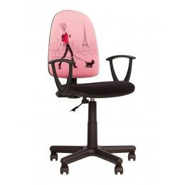 Детское компьютерное кресло FALCON GTP MF A TA 5 Nowy Styl (Девочка с собачкой)