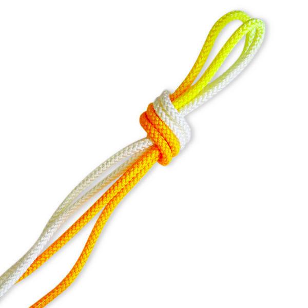 Скакалка Pastorelli Patrasso Multicolor 3м нейлон 03707 белый-оранжевый Fluo
