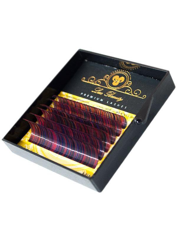Цветные ресницы RAINBOW MIX Lux Beauty