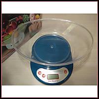 Кухонные электронные весы до 5 кг с чашей EK01 с тарированием, фото 1