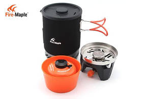 Комбинированная система для приготовления пищи Fire-Maple FMS-X1,газовая горелка. система для приготування їжі