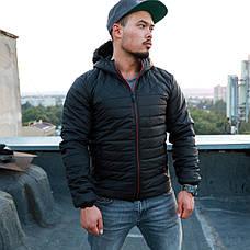Мужская осеняя куртка с капюшоном от Asos черного цвета, фото 3