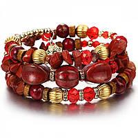 "Браслет ""Louis Vuitton red"" с кристаллами swarovski"