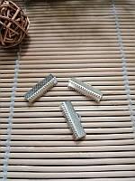 Зажим для лент 20 мм серебро, фото 1