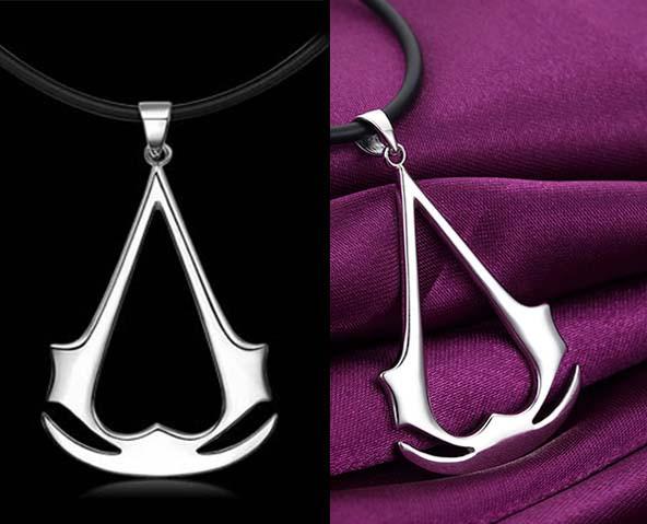 Assassin's creed. Кулон. Цвета: серебро, золото