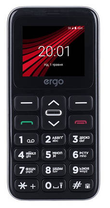Мобільний телефон Ergo F186 Solace Dual Sim Silver Гарантія 12 місяців, фото 2