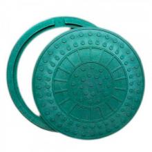 Люк канализационный Инсталпласт до 1 тонны (зеленый)