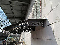 Металевий збірний дашок Dash'Ok Стиль 2,05м*1м з монолітним полікарбонатом 3мм