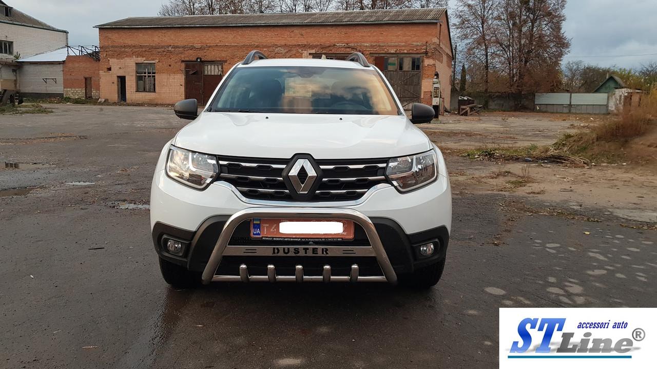 Кенгурятник Dacia Logan 12+ sedan защита переднего бампера кенгурятники на для Дачия Логан Dacia Logan 12+ sedan d60х1,6мм
