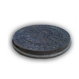 Люк канализационный Инсталпласт до 1 тонны (черный)