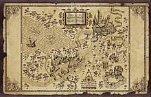 Карта Хогвартс. Карта Мародерів.Гаррі Поттер