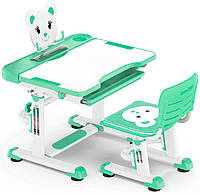 Комплект парта и стульчик Evo-Kids BD-04 Teddy Green
