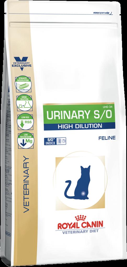 Корм для кошек для лечения мочекаменной болезни Royal Canin URINARY S/O FELINE HIGH DILUTION 0,4 кг