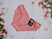"""Трусы женские """"Ftide"""" рюши спереди размер 46 (ХL) цвет персиковый"""
