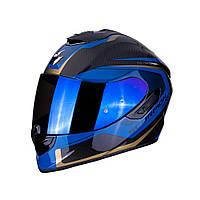 Мотошлем Scorpion EXO-1400 Air Carbon Espirit (синий)