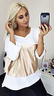 Женская модная туника с кожей, фото 1