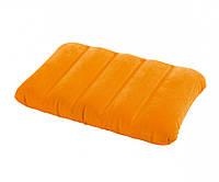 Подушка надувная пляжная Intex 68676 (Желтая)