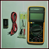 Цифровой мультиметр (тестер) DT9208A + щупы +крона, фото 1