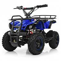 Двомісний Дитячий Електро КвадроциклНВ-EATV800N-4 V2 Синій BAMBI, фото 1