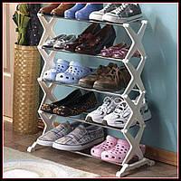 Полка для обуви Shoe Rack 5 tier на 15 пар