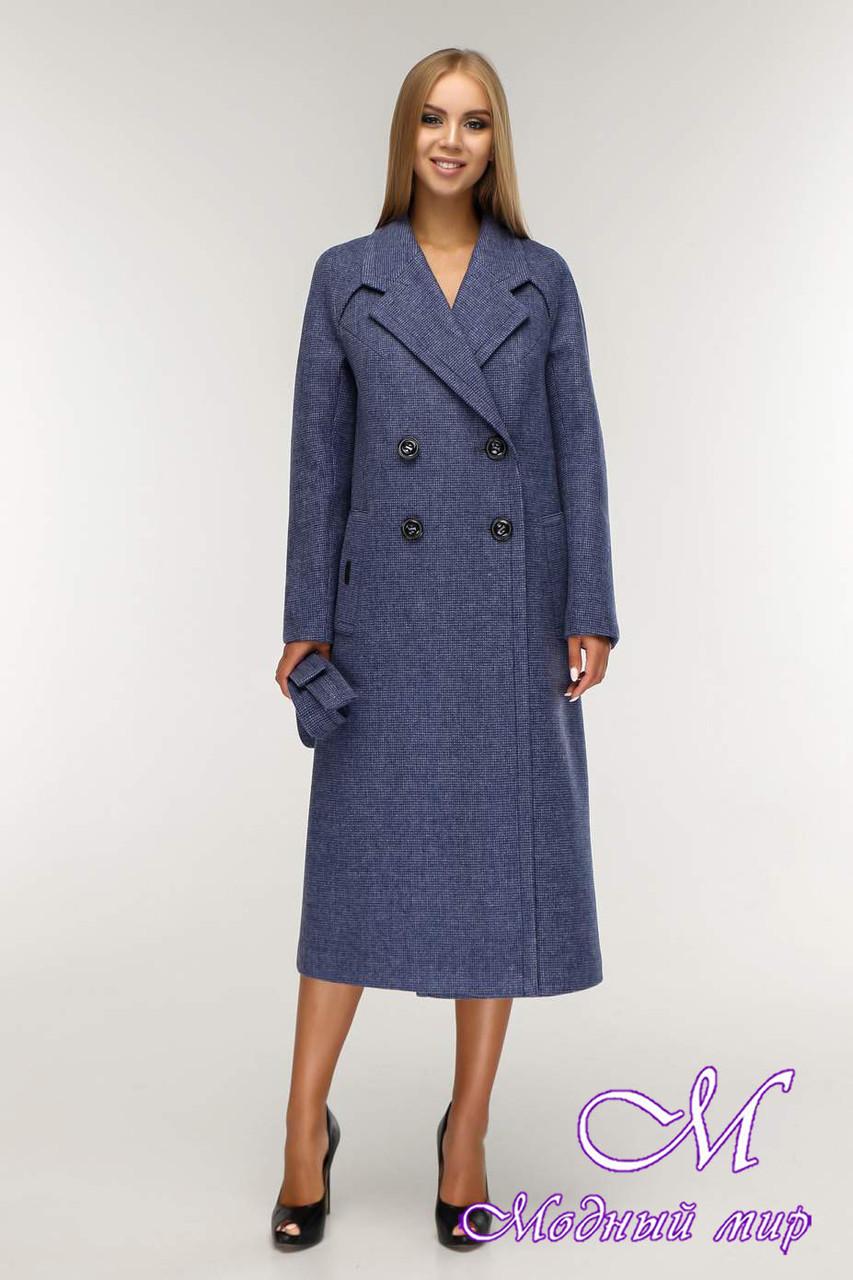 Пальто женское демисезонное двубортное (р. 44-54) арт. 1194 Тон 11