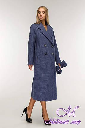Пальто женское демисезонное двубортное (р. 44-54) арт. 1194 Тон 11, фото 2