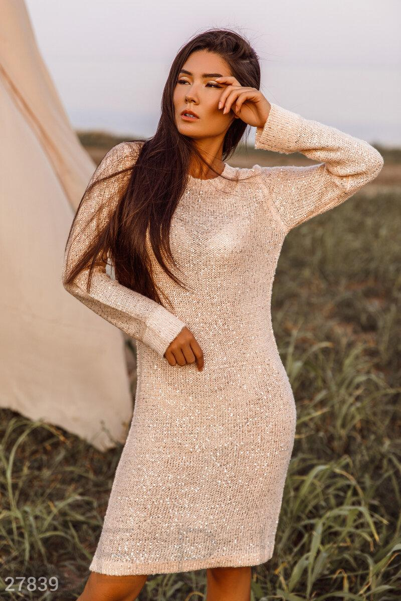 Платье с пайетками 2 цвета