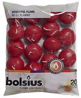 Плавающие свечи Bolsius красные 20 шт (пл20-030)