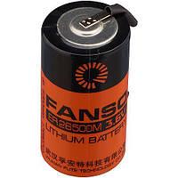 Литиевая батарея ER26500M-T, типоразмер С, 3,6В 6000 мАч, Li-SOCl2, с лепестками