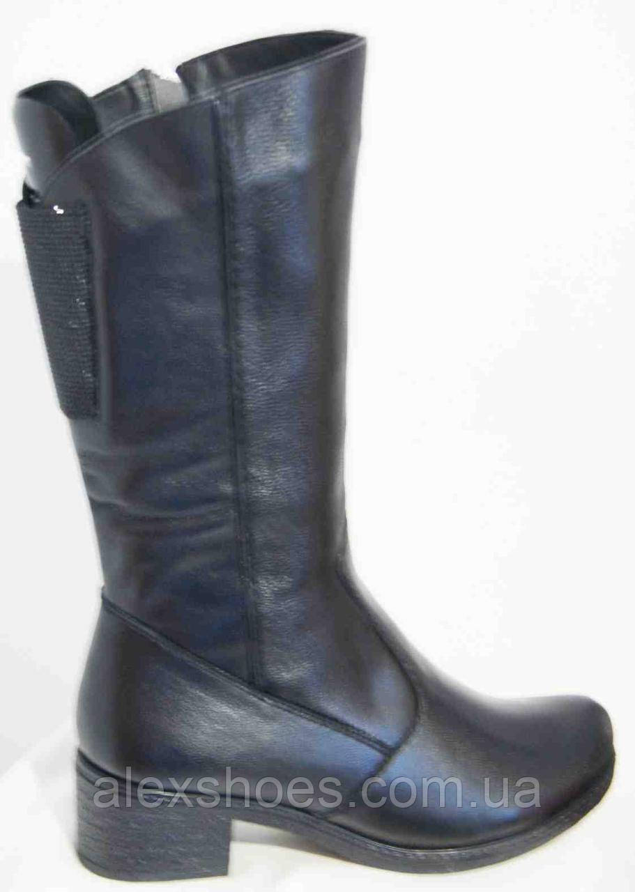 Сапоги женские зима большого размера из натуральной кожи от производителя модель В1432К-2