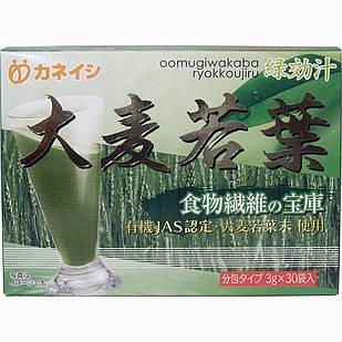 Kaneishi oomugiwakaba ryokkoujiru Японський сік Аодзиру з паростків ячменю Вакаба (3 г × 30 пакетиків)