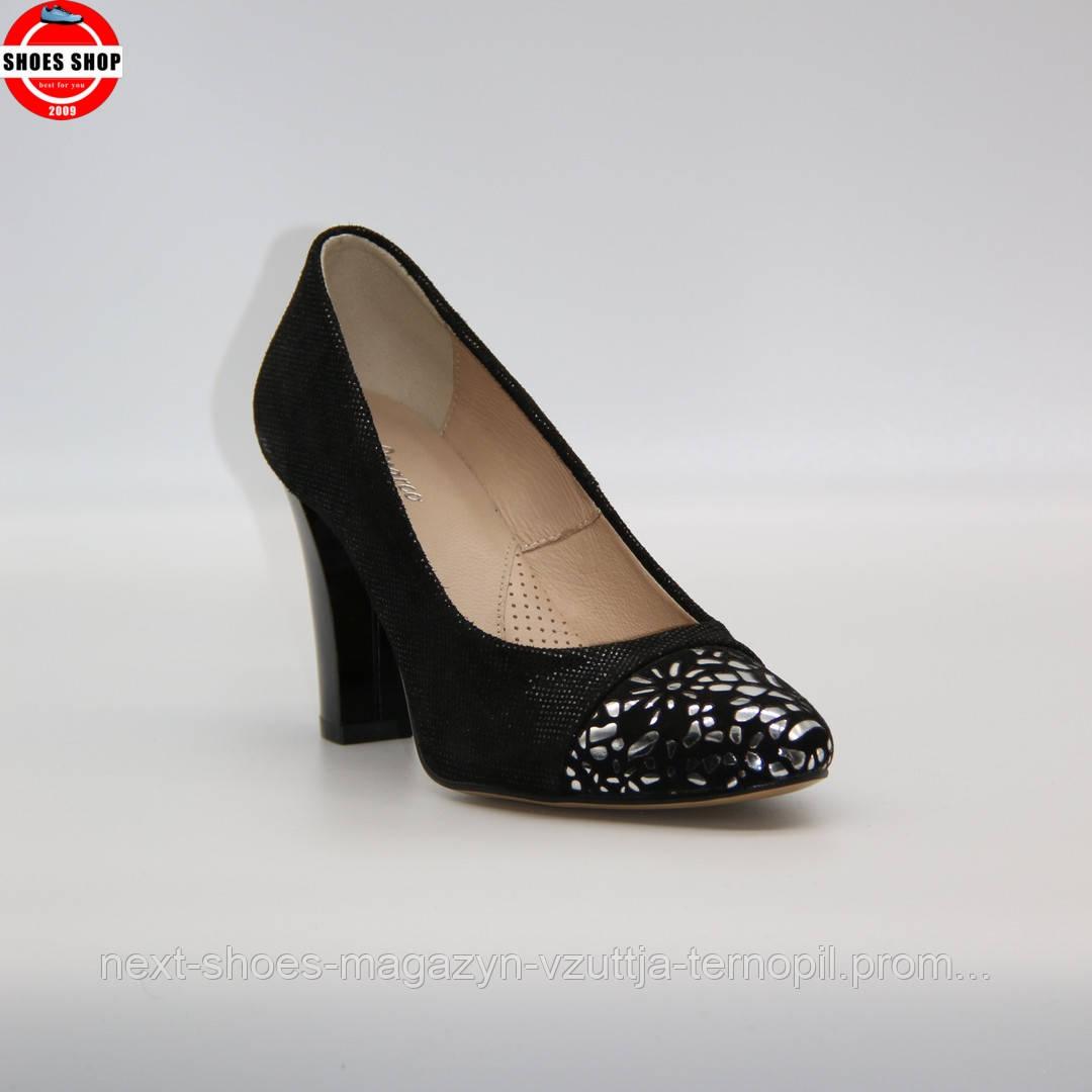 Жіночі туфлі Marco (Польща) чорного кольору. Красиві та комфортні. Стиль: Керім ван Хаутен