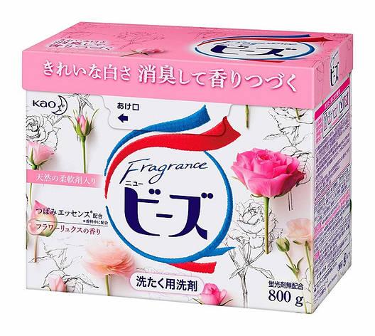 Стиральный порошок KAO New Fragrance Beads с кондиционирующим эффектом (роза) 800 г (349484), фото 2