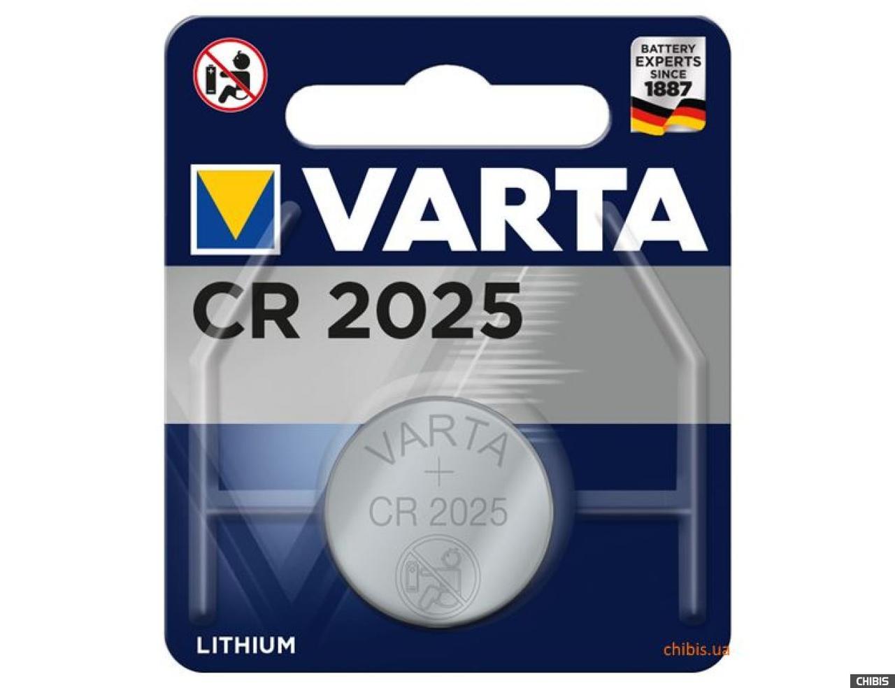 Батарейка Varta CR2025 (1 шт.)