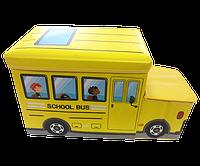 Органайзер- ящик- сидения для игрушек в виде автобуса.Желтый