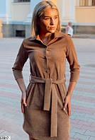 Женское демисезонное платье вельвет 42-46 размеров, 4 цвета